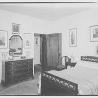 Miscellaneous interiors. Bedroom with double bed