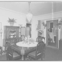Miscellaneous interiors. Dining room I