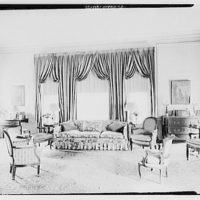 Miscellaneous interiors. Living room, past couch, to window