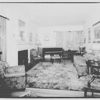 Miscellaneous interiors. Living room, to piano