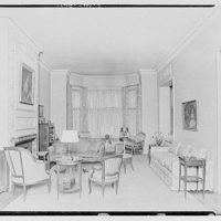 Miscellaneous interiors. Living room, to window alcove