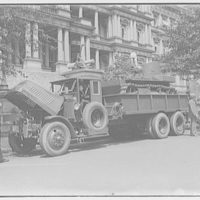 Miscellaneous subjects. Armored vehicles in front of Old Executive Office Building II