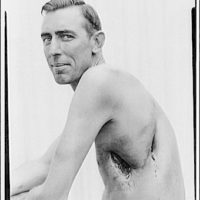 Miscellaneous subjects. Man displaying scars from wounds or injury II