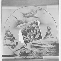 Miscellaneous subjects. Montage of war scenes centered around image of farm and food