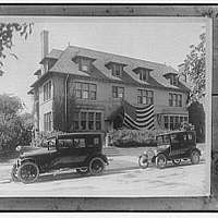 Miscellaneous subjects. Photograph of a house copied for Senator Goff