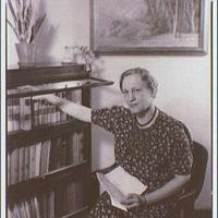 Miss Harriet Root. Portrait of Miss Harriet Root seated II