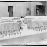 Model groups of government buildings. Circular plaza of 12th St.