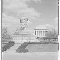 Monuments & memorials. John Ericsson statue and Lincoln Memorial I