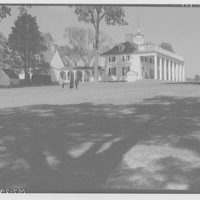 Mount Vernon. Left and front of Mount Vernon mansion with rail (horizontal) II