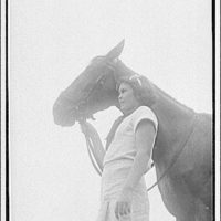 Mr. Bartlett. Portrait of a girl and her horse II