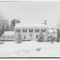 Mr. Teal, residence at 129 Woodhaven, Renwood, Maryland. Exterior of Mr. Teal's house in snow IV