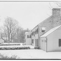 Mr. Teal, residence at 129 Woodhaven, Renwood, Maryland. Exterior of Mr. Teal's house in snow I