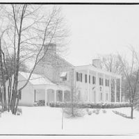 Mr. Teal, residence at 129 Woodhaven, Renwood, Maryland. Exterior of Mr. Teal's house in snow II