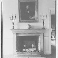 Mrs. Bonsol, residence. Fireplace mantel of Mrs. Bonsol I