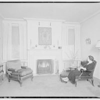 Mrs. Fisher's home in Georgetown. Living room in Mrs. Fisher's home