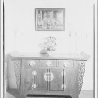Mrs. Little, quarters in Marine Barracks. Decorative chest