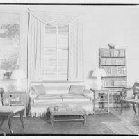 Mrs. Little, quarters in Marine Barracks. To window with venetian blinds