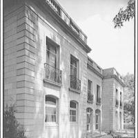 Mrs. Moran home at 2320 Bancroft. Diagonal view of exterior of Mrs. Moran's home