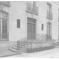 Mrs. Moran home at 2320 Bancroft. Exterior to steps and entrance of Mrs. Moran's home