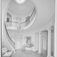 Mrs. Moran home at 2320 Bancroft. Spiral stairway and skylight in Mrs. Moran's home