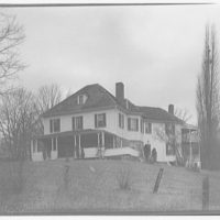 Mrs. Westland and her home, Capitol View, Maryland. Exterior of Mrs. Westland's house