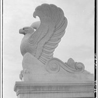 National Archives. Stone eagle on top of National Archives Building II