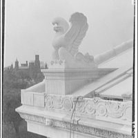 National Archives. Stone eagle on top of National Archives Building IV