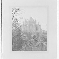 National Cathedral exteriors. Apse of National Cathedral from east end I