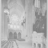 National Cathedral interiors. Crossing and north transept in National Cathedral I