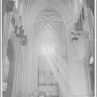 National Cathedral interiors. Crossing of National Cathedral from north transept III
