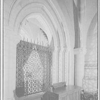 National Cathedral interiors. Grille door and organ, Saint Joseph of Arimathea Chapel, National Cathedral