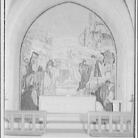 National Cathedral interiors. Painting in Saint Joseph of Arimathea Chapel, National Cathedral I