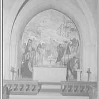 National Cathedral interiors. Painting in Saint Joseph of Arimathea Chapel, National Cathedral III