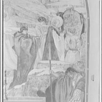 National Cathedral interiors. Part of painting in Saint Joseph of Arimathea Chapel, National Cathedral I