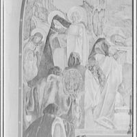National Cathedral interiors. Part of painting in Saint Joseph of Arimathea Chapel, National Cathedral II