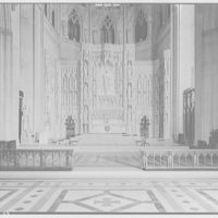 National Cathedral interiors. Sanctuary in National Cathedral II