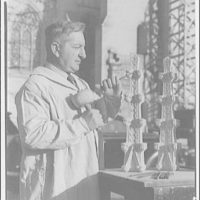 National Cathedral. Mr. Fanfani, sculptor at National Cathedral I