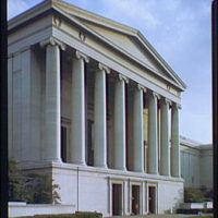 National Gallery of Art. Exterior of National Gallery of Art from Constitution Ave. I