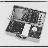 National Radio Institute, U and 16th Sts. Box of radio parts, open