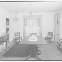 Ned Morris residence. Dining room of Ned Morris house