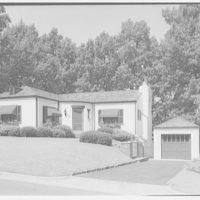 Ned Morris residence. Exterior of Ned Morris house with garage