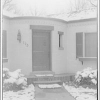 Ned Morris residence. Ned Morris house, close-up, with snow II