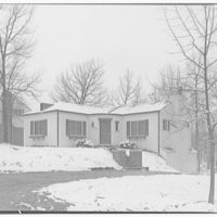 Ned Morris residence. Ned Morris house in Virginia with snow I