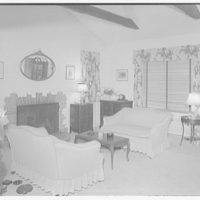 Ned Morris residence. Section of living room in Ned Morris house I
