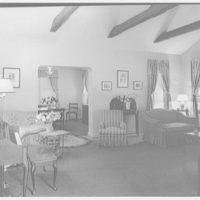Ned Morris residence. View of living room in Ned Morris house