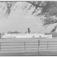 Norfolk & Washington Steamboat Co. View of District of Columbia steamship under willow tree II