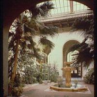 Pan American Union Building. Fountain in courtyard of Pan American Union Building