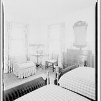 Paterson country house, Point Farm, by Schuyler & Lounsbery. Bedroom in Paterson country house
