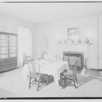 Paterson country house, Point Farm, by Schuyler & Lounsbery. Dining room in Paterson country house