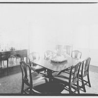 Paterson country house, Point Farm, by Schuyler & Lounsbery. Dining room in Paterson country house II